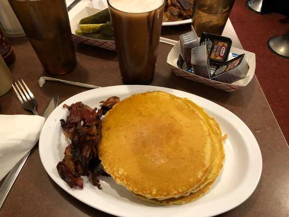 Pancakes & Chocolate Egg Cream